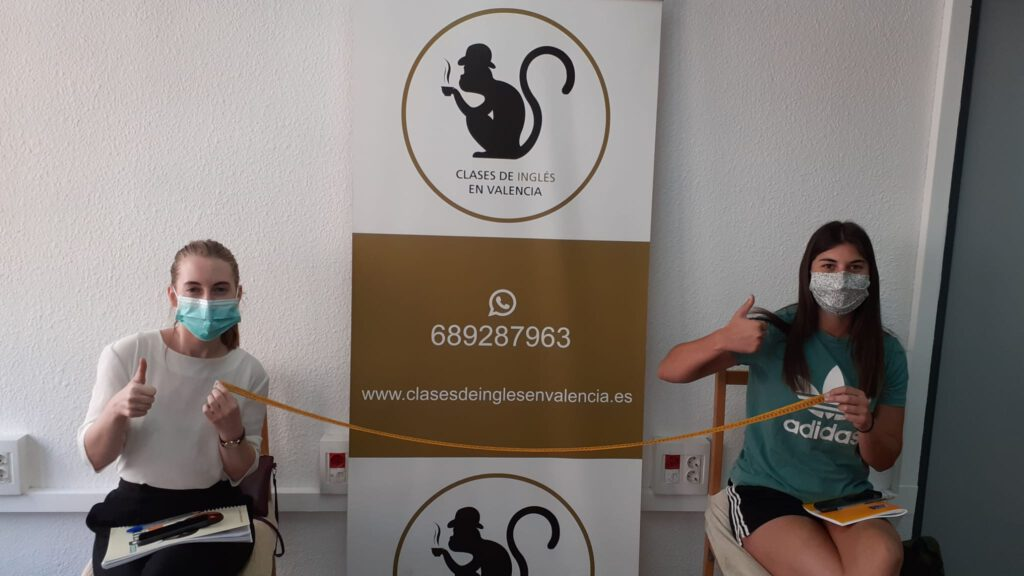 curso de inglés online en Valencia - distancia de seguridad