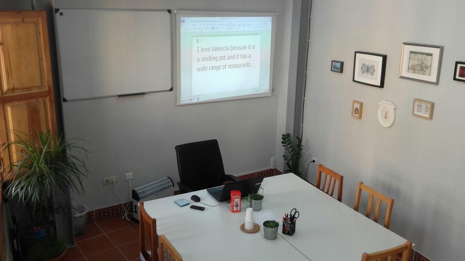clases de inglés en Valencia - aula