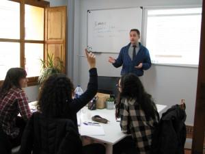 clases de inglés presenciales en Valencia - aula